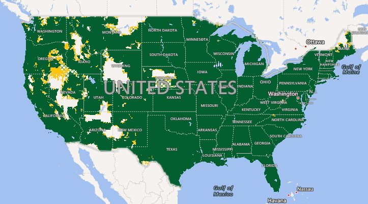 cricket wireless coverage map