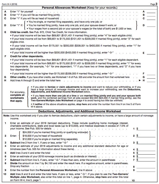 2018 w4 form: how to fill it out and what you need to know