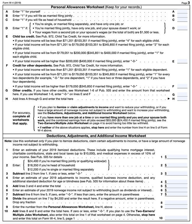 photograph relating to W4 Form Printable called 2019 W4 Type: How Towards Fill It Out and What Yourself Will need towards Realize