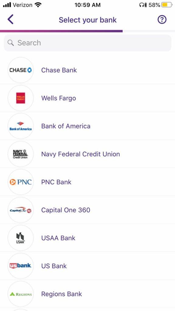Earnin app participating banks 2020