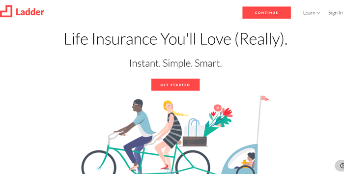 Ladder life insurance review homepage image